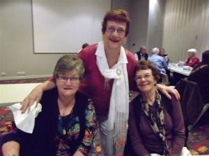 Sandra Mollinhagen (Humbly), Natalie Ferris (Budge) and Joan Campbell (Hinton)